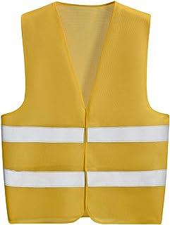 FJFSC Reflective Vest Overalls Safety Breathable Mesh Reflective Vest (Color : Brown)