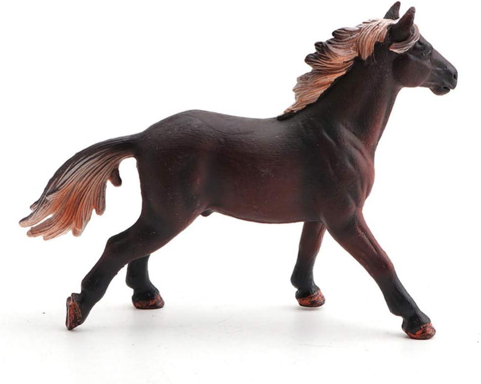 WINOMO Modelo de caballo realista, diseño de caballo de granja, figuras en miniatura, animales, decoración de mesa, 14, 2 x 3, 5 cm