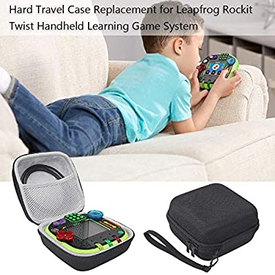 PITCHBLA Hard Carrying Case for Leapfrog Rockit Twist Handheld Learning Game, Large Capacity Storage Bag All-Around Zippered with High-Grade Handle Well Made from PITCHBLA