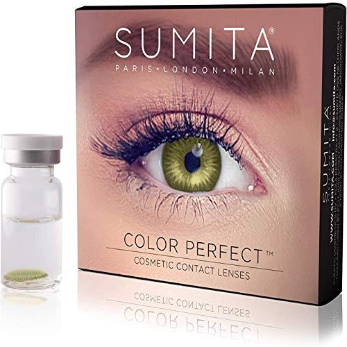 SUMITA Color Perfect (Verde), Lentes de contacto de color, lentes de contacto mensuales, suaves, vida útil de 1 mes, proteja sus ojos de los rayos UV, sin receta, hecho en Corea, diseño italiano
