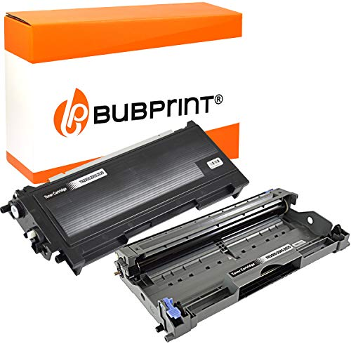 Bubprint Kompatibel Toner und Trommel als Ersatz für Brother TN-2220 DR-2200 DCP-7055 W DCP-7065DN HL-2130 HL-2135W HL-2240 D HL-2250DN MFC-7360 MFC-7360N MFC-7460DN MFC-7860DW Fax 2840 2er-Pack