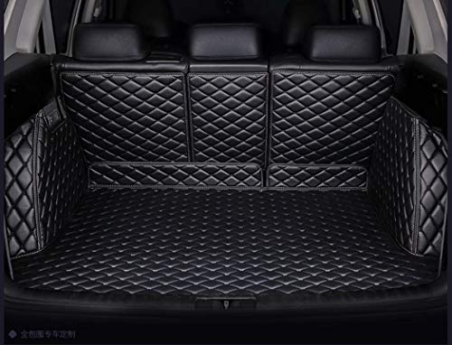 OkuTech 3D Full Coverage All Weather Waterproof Custom fit Car Rear Trunk Mat Cargo Boot Liner Tray Rear Trunk Cover for Mercedes Benz GLB Class GLB250 GLB 250 5 Seat Black with Black Stitching