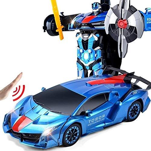 MUMUMI Abejorro de los transformadores de carga a distancia de control de coches Optimus Prime eléctrico de juguete for niños Puzzle Boy multifunción Stunt Car Deformación Autobots Light Music 360 ° d