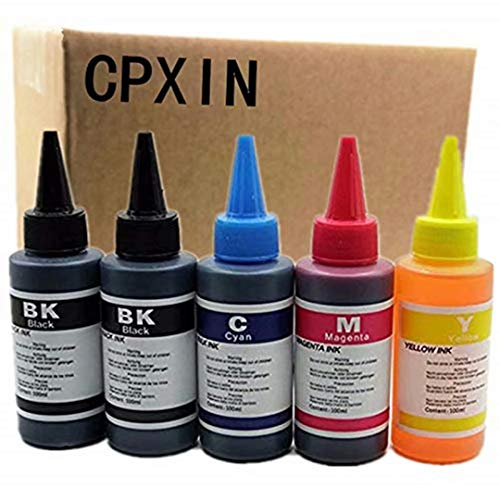 Kit de recambio de tinta para impresora de tinta PGI-550BK de 100 ml para impresora de inyección de tinta Canon Pixma iP7250 MG5450 MG5550 iX6850 MX725 MX925 MG5650 MG6650 (100 ml 1 juego+1negro)