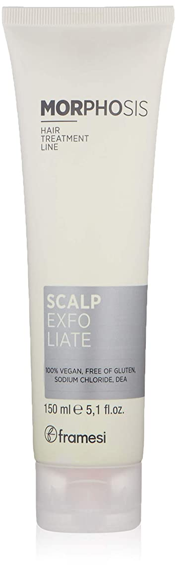 Framesi Morphosis Scalp Exfoliate - 5.1 Ounce, Color Safe Scalp Exfoliator, Cleanses and Removes Buildup, Scalp Treatment, Vegan, Gluten Free, Cruelty Free