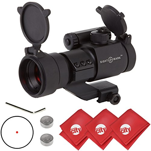 Best Buy! Circuit City Sightmark 1x28 Tactical Illuminated Red Dot Rifle Sight with 3 Microfiber Cle...
