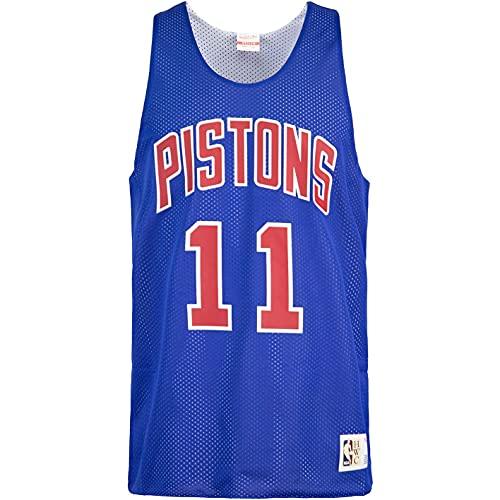 Mitchell & Ness Isiah Thomas Detroit Pistons - Camiseta de tirantes reversible, azul real., M
