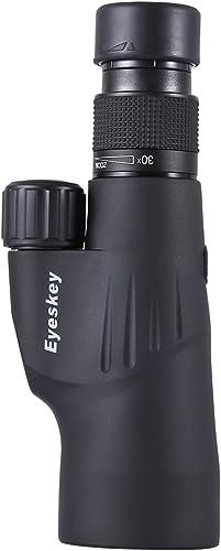 Ledu Monoculaire, 10-30x50 Haute définition microscopique BAK4 Prisme Vision Nocturne Zoom caméra téléphone Mobile Photo Basse lumière Niveau Nuit Vision extérieure Oiseau Miroir