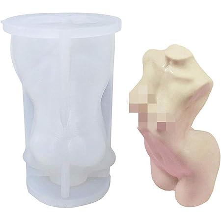 Molde de silicona 3D con forma de cuerpo de hombres y mujeres, molde de vela para decoración de manualidades y jabón casero
