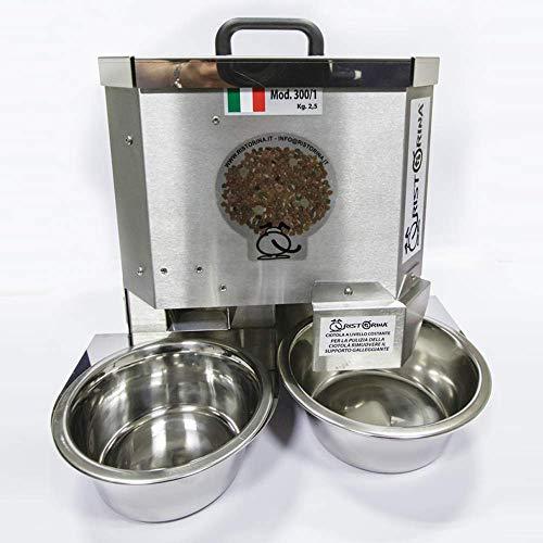 Mangiatoia Automatica Ristorina 300/1 Distributore di Cibo e Acqua per Cani e Gatti
