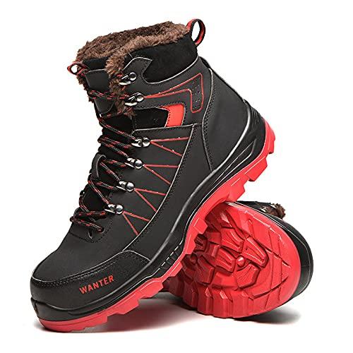 KUXUAN Zapatos de Seguridad Botas de Trabajo Impermeables de Caña Alta para...