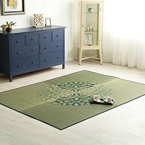 WEN tapijten Vouwen Tatami Mat Ademende Zomer Slaapkussen Koele matras Topper Tatami Skid Resistant, Gemakkelijk te reinigen Vloer Runner Mat,2 Kleuren