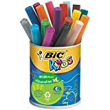 BIC Kids Visacolor XL ECOlutions rotuladores de colores con Punta Ancha – colores Surtidos, Bote de 18 unidades