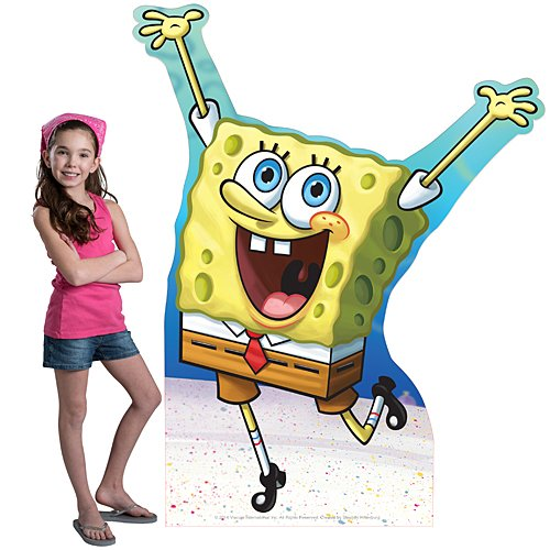5 ft. 3 in. Spongebob Squarepants Standee Standup Photo Booth Prop Background Backdrop Party Decoration Decor Scene Setter Cardboard Cutout