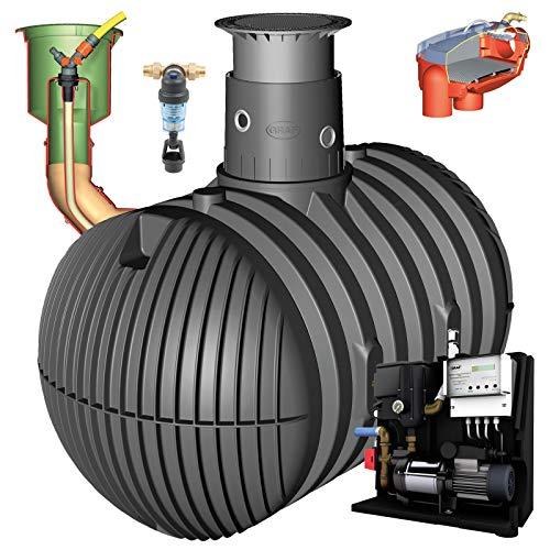 GRAF Regenwasser-Erdtank Carat Regenwassertank Zisterne Wassertank Haus Professionell, 10.000 L PKW-befahrbar