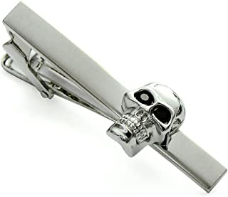 ENVIDIA Steanpunk Skull Tie Clip Business Party Gifts with Box