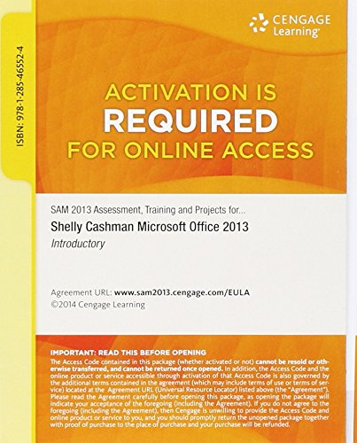 SAM 2013 Assessment, Training, and Projects with MindTap Reader v3.0 Multi-Term Printed Access Card for Microsoft Office