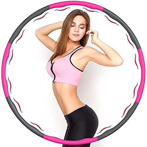 FASHLOVE Hula Hoop Slim Hoop for Adults and Children for Weight Loss and Massage Folding Fitness Wave 1kg Width 95cm Foam Padded Slimming Ring Weight Loss Gift For Women