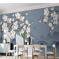 写真の壁紙3D立体空間カスタム大規模な壁紙の壁紙 中華風の花と鳥の壁の装飾リビングルームの寝室の壁紙の壁の壁画の壁紙テレビのソファの背景家の装飾壁画-140X100cm
