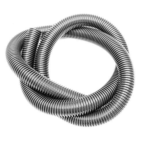 Essort Tubo de Manguera Accessoire para Separador Ciclonico 39mm Vacuum Hose Tubo Colector de Polvo Tubos Flexibles para aspiradoras, 2m (Gris)
