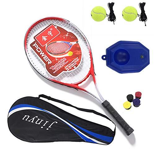 ZKDY Raqueta De Tenis Solo Traje De Principiante Entrenador De Tenis De Rebote Curso Electivo Ejercicio-Rojo