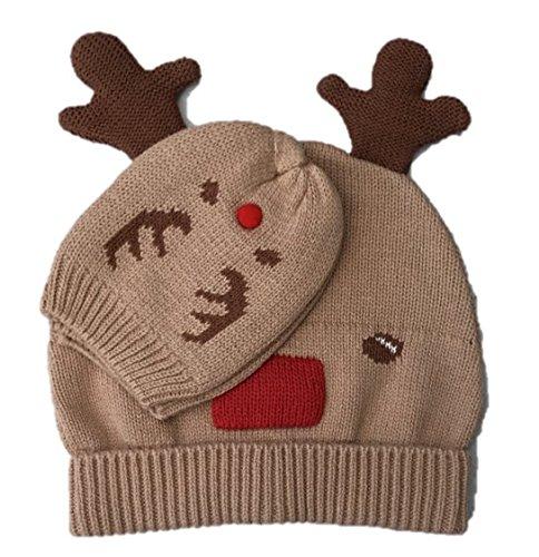 Renna di Natale bambino cappello e guanti set regalo
