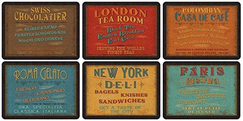 Pimpernel Bordstabletter för lunch, klassisk, 6 stycken bordstabletter flerfärgad