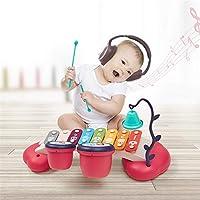 LVJUNQ 8 Note Xilofono per Bambini Classico Durevole con Campane per Viti Doppi Tamburi, Aiuto per sintonizzare Il coordinamento Occhio-Mano e abilità motorie Fini, Utilizzare per Principianti #3