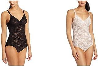 Women's Shapewear Lace 'N Smooth Body Briefer - 40DD - Black/White