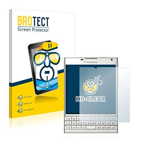 BROTECT Schutzfolie kompatibel mit BlackBerry Passport (2 Stück) klare Bildschirmschutz-Folie
