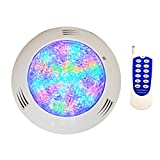 CNBRIGHTER LED Underwater Swimming Pool Lights,18W Windmilling Style RGB Color Changing, 12V AC,Wall Surface Mounted,IP68 Waterproof,with Remote Controller (20ft Cord)