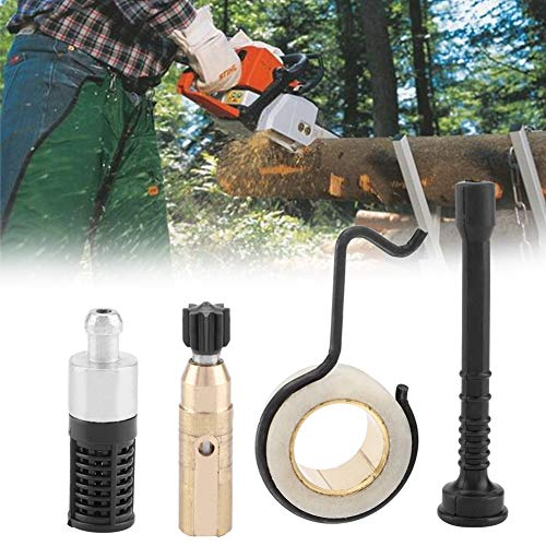 Jeffergarden Chainsaw Oil Pump Worm Gear Oil Pipe Filter Set Accessory Kits Garden Tool Yard Indoor Outdoor for STIHL MS 250 MS230 MS 210