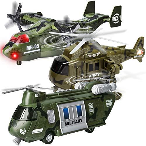 JOYIN 3 PC Friction Powered Military Helicopter...