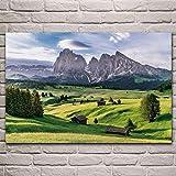 DIARQT Dekorative Gemälde Alpen Dolomit Naturlandschaft