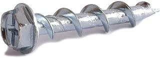 1/4 x 1 1/4 Combo Hex Washer Head Wall-Dog Light Duty Anchors Zinc Plated - Box (100)