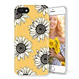 Litech Case for Apple iPhone SE (2020) / iPhone 7 / iPhone 8 [Flexfit] Premium Scratch-Resistant Cute Creative Artistic Design (Sunflower)