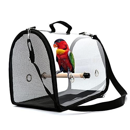 Parrot de jaulas de pájaros Bolsa de viaje conveniente de aves Portátil Pet Pájaro Pájaro Transparente Viaje Ligero Fundas para viajes al aire libre Para las cockatiels periquitos. ( Color : A )