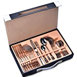Silverware Set,24-Piece Stainless Steel Flatware Sets Service for 6 Mirror Polishing Cutlery Sets with Gift Box for Home,Kitchen,Restaurant Tableware Utensil Sets (24-Piece Silverware, Normal)