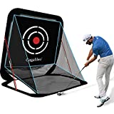 Gagalileo Golf Net Driving Range Pop Up Golf Hitting Net Training Aid Automatic Ball Return for Backyard Driving with Target Carry Bag 8X7X7FT