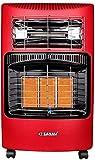 WLD Calentador 4200W Gas Hogar Interior Gas y electricidad Fuente de alimentación de tres velocidades de doble uso Protección contra inclinación Ahorro de energía térmica rápido Adecuado para oficina