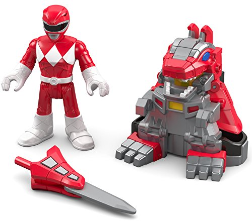 Imaginext Figura de Power Ranger Rojo DKP35 Battle Armor