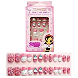 Tokkids 24 pcs uñas postizas para niñas, pre-pegado (fancy)