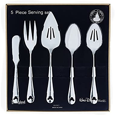 Disney Parks Exclusive Mickey Mouse Icon Flatware 5 Pc. Serving Set 18/8