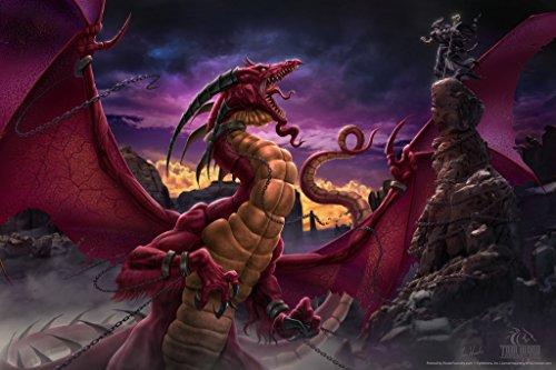 Unleashed Dragon Battle Tom Wood Fantasy Art Cool Wall Decor Art Print Poster 12x18
