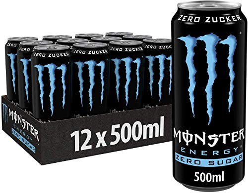 MONSTER ENERGY DRINK ABSOLUTELY ZERO 500 ML -12 LATTINE