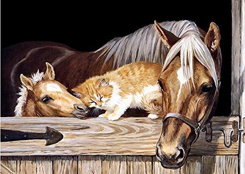 CDNY Tierpferd-DIY Diamant Malerei-Malen nach Zahlen,-Wanddekoration40x50cm