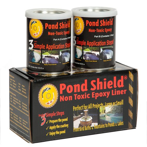 Best pool paint - Pond Armor SKU-SKYBLUE-QT-R Non-Toxic Pond Shield Epoxy Paint, 1.5-Quart, Sky Blue