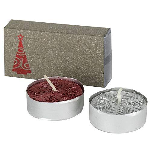 Lote de 50 Pack de 2 Velas en Caja con diseño de Navidad. Regalos para Empresa y Detalles Navideños para Invitados y Clientes.