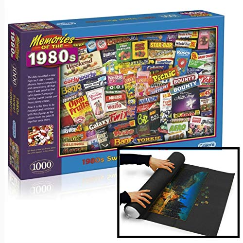 Memories of the 80s 1000 Piece Jigsaw and Mat Gift Set