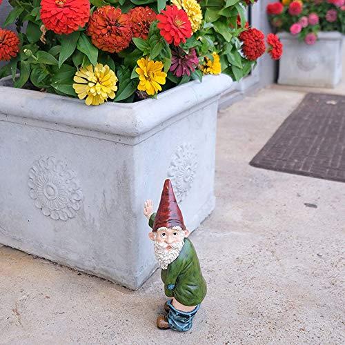LSONE Neuheit Pinkeln Garten Gnom Ornamente Figuren, Freche Garten Elfen Hof Kunst, Lustige GNOME Oder Elfen, Polyresin Garten Skulptur Statuen Dekoration (5,9 * 2,4 Zoll)